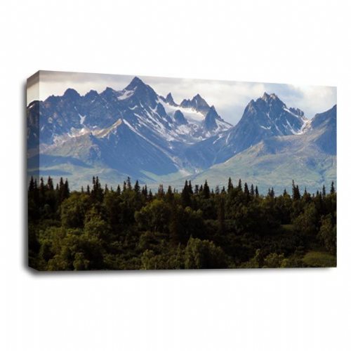 Forest Landscape Canvas Art Mountains Wall Picture Print